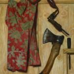 "Гелий Коржев ""Натюрморт с топором и коловоротом"" 1979"