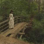 """Илья Репин """"Летний пейзаж. В.А.Репина на мостике в Абрамцеве"""""""