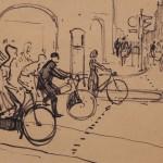"""Виктор Цигаль """"Велосипедисты. Набросок"""""""