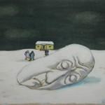 """17. Пивоваров Виктор """"Из цикла """"Меланхолики"""". Снег и сон"""" 1988 Бумага, акварель, уголь 22,2х29,3"""