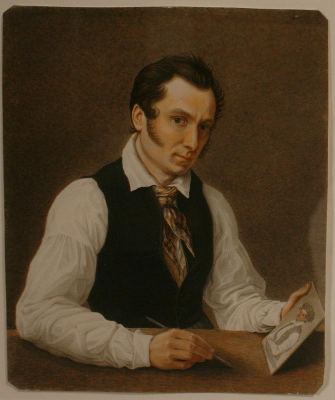 """Николай Бестужев """"Автопортрет. Петровская тюрьма"""" 1837-1839"""