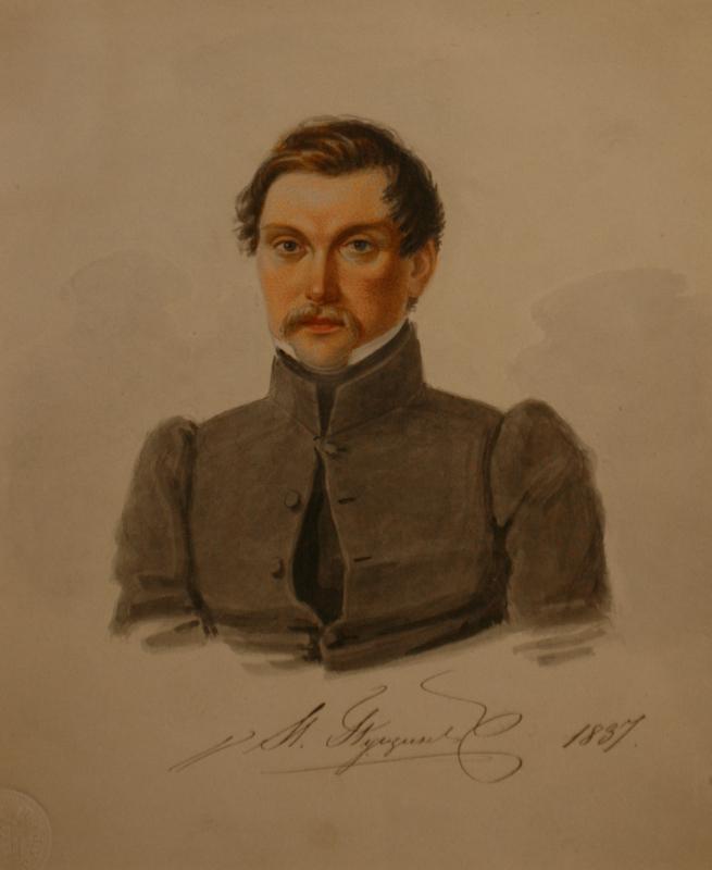 """Николай Бестужев """"И.И.Пущин. Петровская тюрьма"""" 1837"""