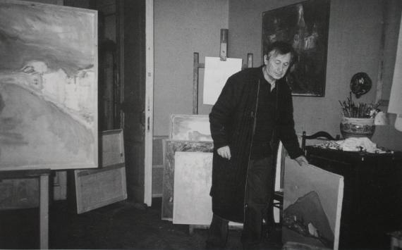 Юрий Николаевич Ларин. В мастерской. 1994.