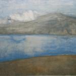 "1. Ларин Юрий ""Озеро Севан"" 1976 Холст, масло 58х67"