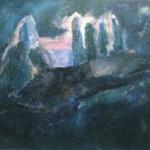 """15. Ларин Юрий """"Пейзаж в Горячем Ключе"""" 1982 Холст, масло 62х70"""