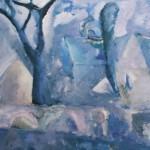 "7. Ларин Юрий ""Тартуский пейзаж"" 1978 Холст, масло 55х62"