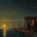 Иван Айвазовский «Османская кофейня в лунном свете» 1857