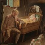 """И.Якимов """"Мужчина у колыбели"""" Начало 1770-х"""