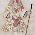 Лев Бакст «Эскиз костюма к балету П.И.Чайковского «Спящая красавица». Принц Шарман при дворе» 1921