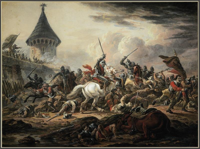 """А.О.Орловский """"Битва"""" Около 1820"""