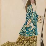 Лев Бакст «Эскиз костюма к балету П.И.Чайковского «Спящая красавица». Придворный» 1921