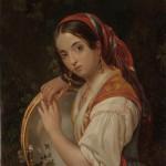 "Н.М.Козаков ""Девушка с бубном"" 1853"