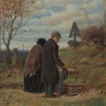 """В.Г.Перов """"Старики-родители на могиле сына"""" Первая половина 1870-х"""