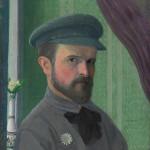 """И.В.Клюн """"Автопортрет"""" 1909-1910"""