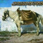 """В.Д.Поленов """"Белая лошадка. Нормандия. Этюд"""" 1874"""