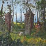 """В.Д.Поленов """"Старые ворота в Веле. Нормандия"""" 1874 Этюд для картины «В парке» 1874 (ГРМ)"""