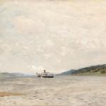 """Исаак Левитан """"Пароход на Волге"""" 1880-е"""