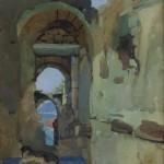 """Николай Шестопалов """"Генуэзская крепость. Судак"""" 1938"""