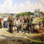 """Александр Маковский """"Базарный день в приволжском городке"""" 1919"""