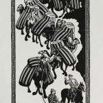 """В.Фаворский """"Разговор о порохе. Из серии """"Самарканд"""" 1942"""