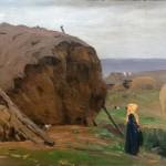 "Алексей Степанов ""Девочка у стога"" 1900-е"