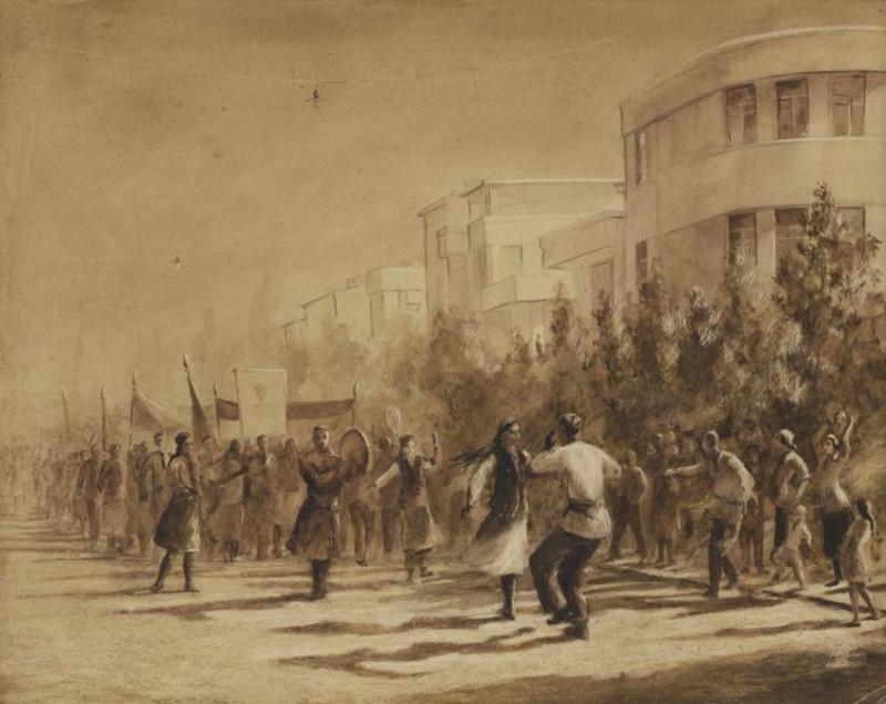 """В.Кедрин """"Первомай в Ташкенте"""" 1949"""
