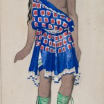 "Лев Бакст ""Юноша, сопровождающий Орфея в храм. Эскиз костюма к балету на музыку Ж-Ж. Роже-Дюкасса «Орфей». I акт"" 1914"
