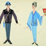 """Василий Коноваленко """"Японцы. Костюмы для концерта «Дружба Народов» 1960"""