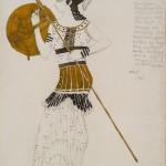 "Лев Бакст ""Эскиз костюма амазонки для Иды Рубинштейн"" 1909"