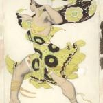 "Лев Бакст ""Эскиз костюма беотийца к балету ""Нарцисс"" Н.Черепнина"" 1911"