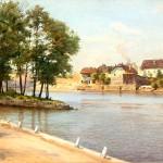 """Альберт Бенуа """"В Писеке. Богемия. Вид на набережной"""" Конец 1900-х – начало 1910-х"""