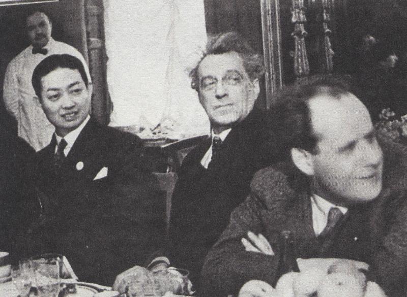 Мэй Ланьфан, Вс.Э.Мейерхольд, С.М.Эйзенштейн на одном из официальных приемов. Москва, март 1935 года
