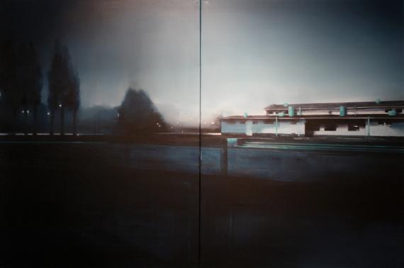 """Виктория Иконен """"Заброшенный бассейн. Ночь. Диптих"""" 2015-2016"""