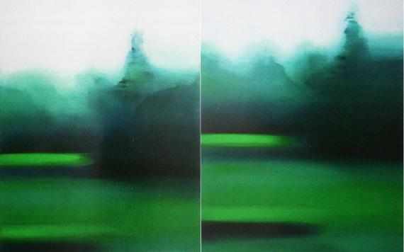 Виктория Иконен «Без названия. Movable Landscape. Диптих» 2016