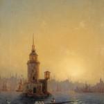 """Иван Айвазовский """"Вид Леандровой башни в Константинополе"""" 1848"""