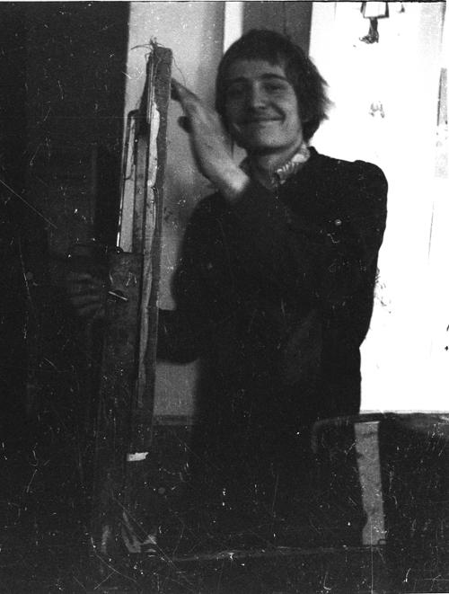 Сергей Мягких. В аудитории Ставропольского художественного училища. 2 курс. Осень 1978 г.