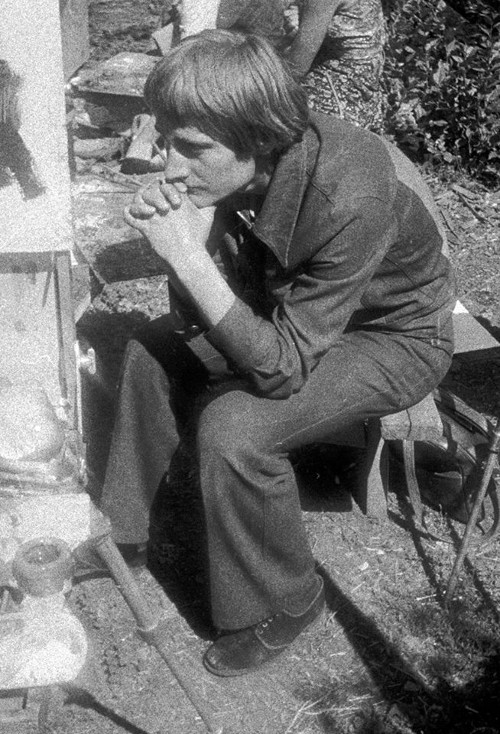 Сергей Мягких. На пленэрной практике после 2 курса СХУ. Июнь 1979 г.