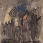 "Александр Лабас ""Взрыв. Вариант 2"" 1957"