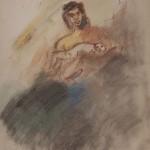 "Александр Лабас ""Мать с ребенком. Вариант 5"" 1957"
