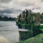 Зинаида Серебрякова «Пруд в Царском Селе» 1913