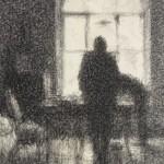 """Верейский Г.С. """"Окно, сумерки"""" 1928"""
