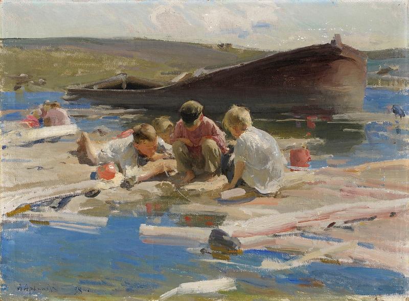 """Абрам Архипов """"Дети, играющие на берегу"""" 1898"""