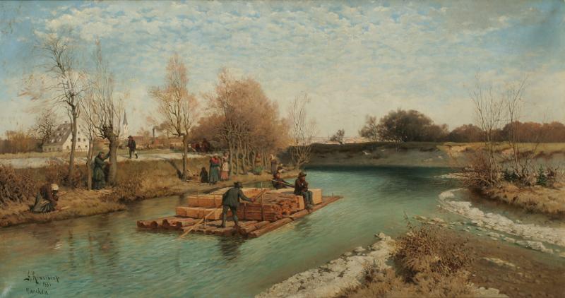 """Кившенко А.Д. """"Окрестности Мюнхена по реке Изару"""" 1881"""