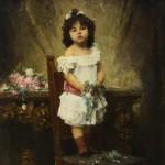 """Харламов А.А. """"Девочка с цветами"""" 1890"""