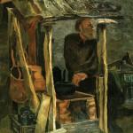 """Виктор Калинин """"Старик у печки"""" 1968"""