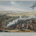 """Н. де Лармессен """"Битва при Лесной. 28 сентября 1708 г."""" Гравюра 1724"""