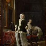 """Франс ван Мирис Старший """"Утро молодой дамы"""" Около 1660"""