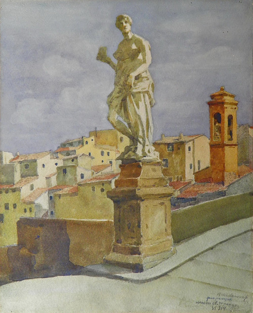 Николай Шестопалов «Ponte St. Trinita во Флоренции».