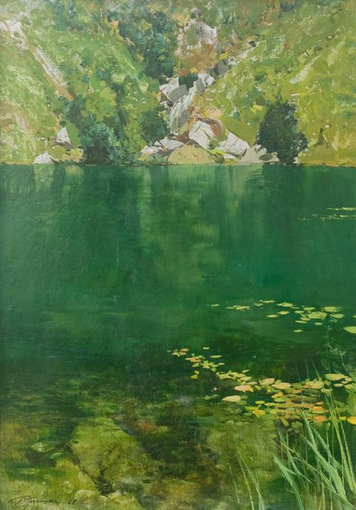 """П.М. Гречишкин """"Форельное озеро. Теберда"""" 1962 © Собрание СКМИИ"""