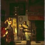 """Питер де Хох """"Материнские заботы (Приготовления к выходу)"""" 1674"""
